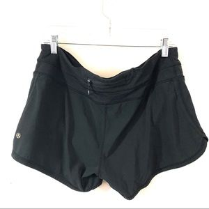 Lululemon Black Speed Shorts Size 10